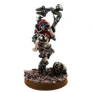 MECHANIC ADEPT FEMALE TECH PRIEST WITH SERVO-ARM MK-V