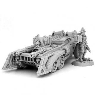HERESY HUNTER FEMALE INQUISITOR WITH BATTLE CAR