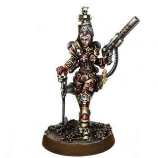 HERESY HUNTER FEMALE INQUISITOR WITH FLAMER