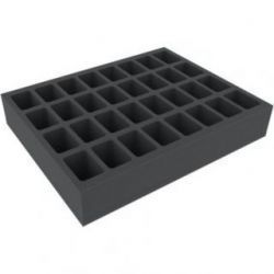 60 MM FOAM TRAY FOR WARHAMMER - 32 COMPARTMENTS