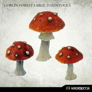 GOBLIN FOREST LARGE TOADSTOOLS (3)