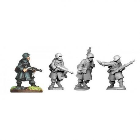 German NCO's and LMG in Greatcoats