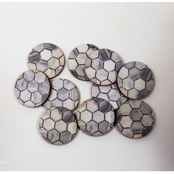 25mm Hex x10 - Pre Painted Bases ( 40k , AoS, Infinity , Malifaux, Warlord Games)