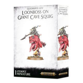 GLOOMSPITE GITZ. LOONBOSS ON GIANT CAVE SQUIG