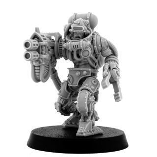 MECHANIC ADEPT BATTLE SERVITOR WITH HEAVY MELTING GUN (HM)