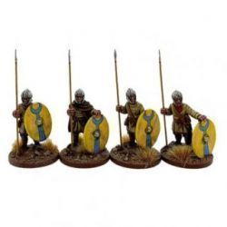 Late Roman unarmoured Infantry in Helmets