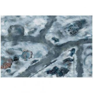 9ED 44'x30' Imperial City Snow 1 Compatible with Warhammer, Warhammer 40K and other Wargames