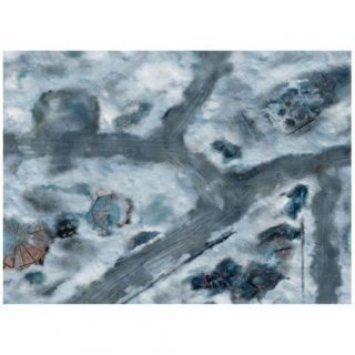 9ED 44'x60' Imperial City Snow 1 Compatible with Warhammer, Warhammer 40K and other Wargames