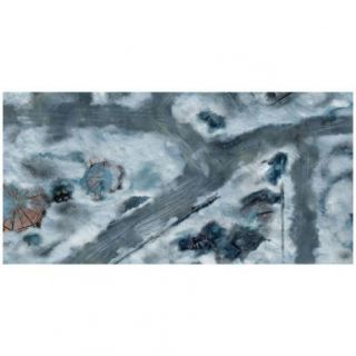 9ED 44'x90' Imperial City Snow 1 Compatible with Warhammer, Warhammer 40K and other Wargames