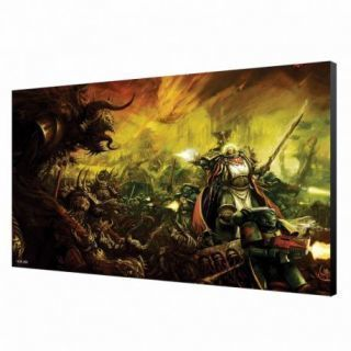 Dark Angels in Battle Wood Panel