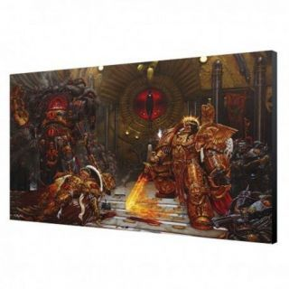 Emperor VS Horus Wood Panel