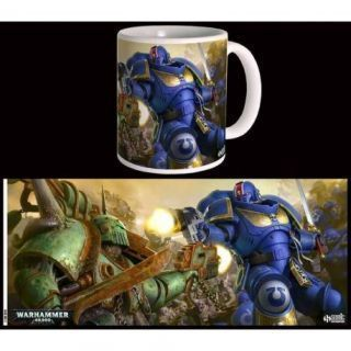 Ultramarines vs Nurgle Mug
