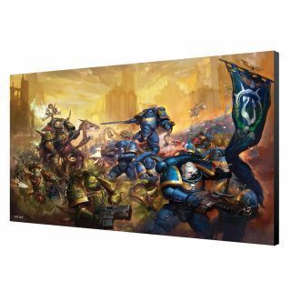 Ultramarine vs Nurgle Wood Panel - Warhammer 40K