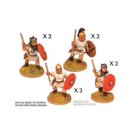Velites with spear and shield (8)