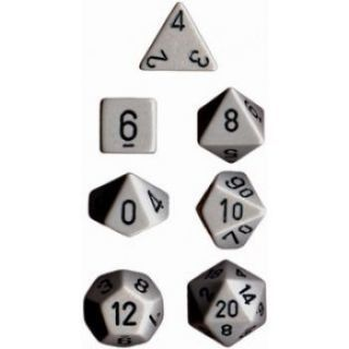 Chessex Opaque Polyhedral 7-Die Sets - Grey black