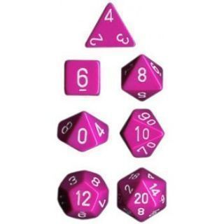 Chessex Opaque Polyhedral 7-Die Sets - Light Purple white