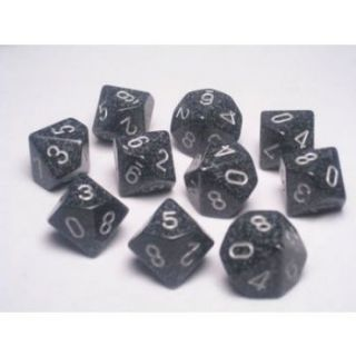 Chessex Speckled Polyhedral Ten d10 Set - Ninja