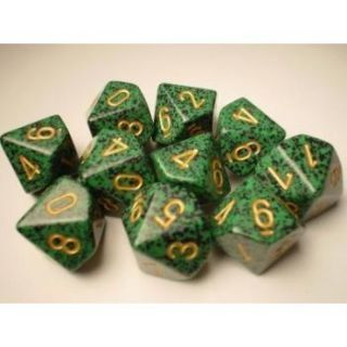 Chessex Speckled Polyhedral Ten d10 Set - Golden Recon