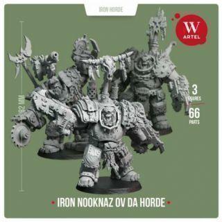 Iron Nooknaz ov da Horde (3 miniatures)