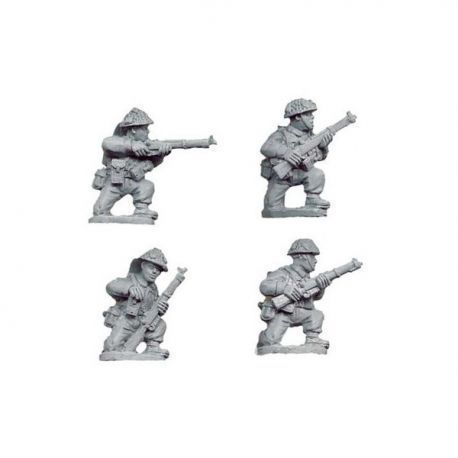 Late British Riflemen Kneeling (4 figs)