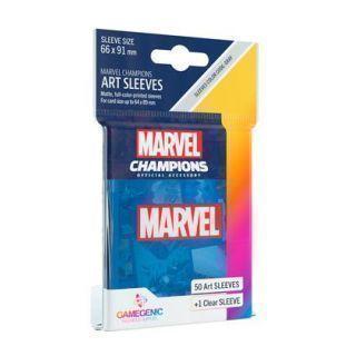 FUNDAS MARVEL CHAMPIONS BLUE (AZUL) (50)
