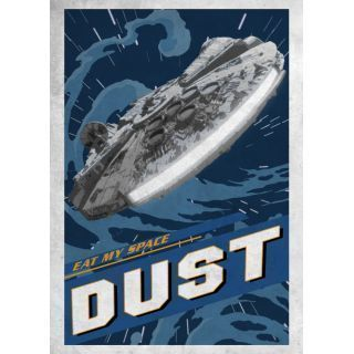 GALACTIC PROPAGANDA - MAGNETIC METAL POSTER 45X32 - EAT MY SPACE DUST