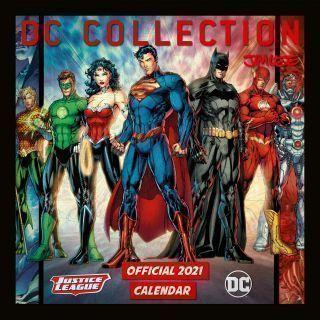 Dc Comics 2021 Official Square Calendar