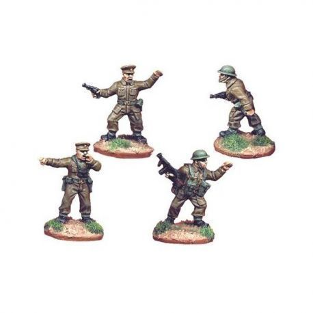 British Infantry Command (4 figures)