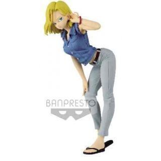 ANDROID 18 II VER. A CAMISA AZUL FIGURA 23 CM DRAGON BALL Z GLITTER & GLAMOURS