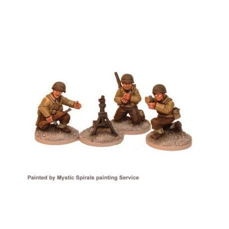 US Infantry 60mm Mortar & Crew (3 crew, 1 mortar)