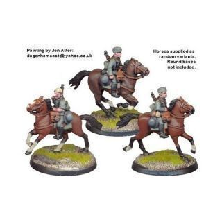 German Cavalry in side Caps (3)