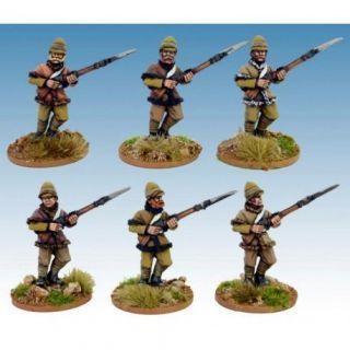 British infantry in Poshteen Advancing