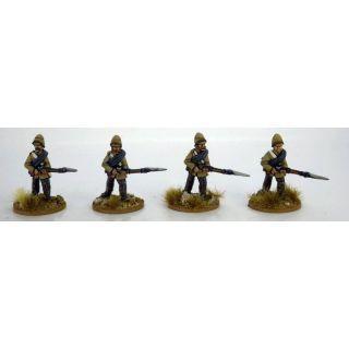 Highlanders in trousers advancing. 2nd Afghan War.