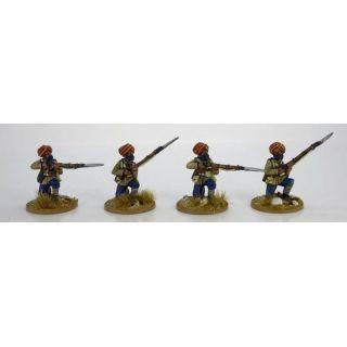 Sikh Infantry Kneeling. 2nd Afghan War.
