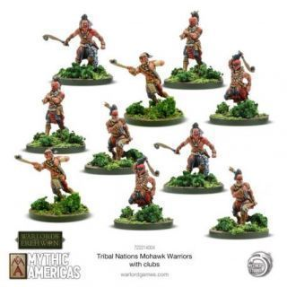 Mohawk Warriors with Clubs