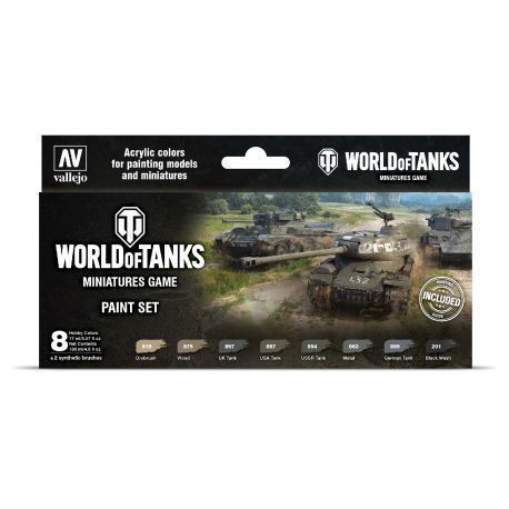 World of Tanks Miniatures Game Paint Set