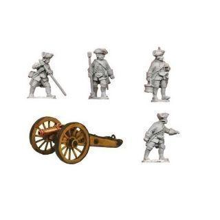 Austrian 3pdr cannon & 4 crew