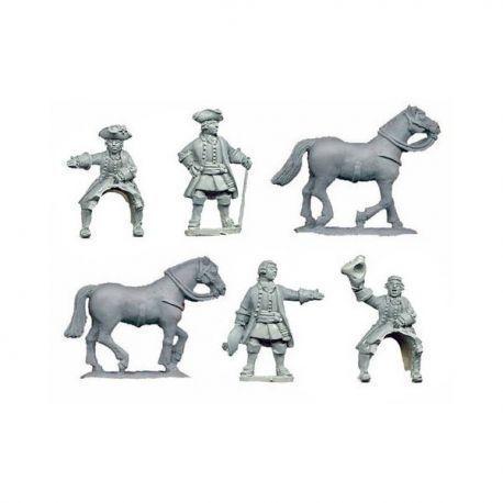 Austrian generals (2 foot, 2 mounted)