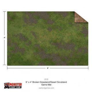 6x4 Broken Grassland / Desert Scrubland Game Mat