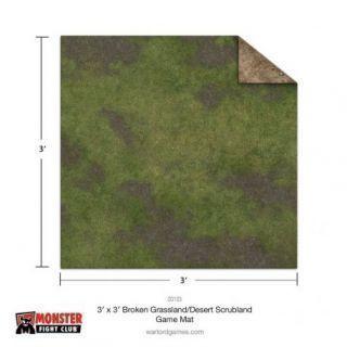 3x3 Broken Grassland / Desert Scrubland Game Mat