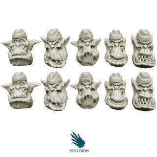 Orcs Heads in Side Caps