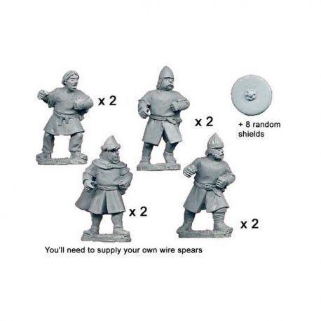 Unarmoured Spanish Spearmen (8 figs)