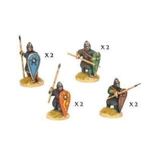 Norman Spearmen in Chain II (8 figs)
