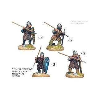 Norman spearmen in quilted armour (8 figs)