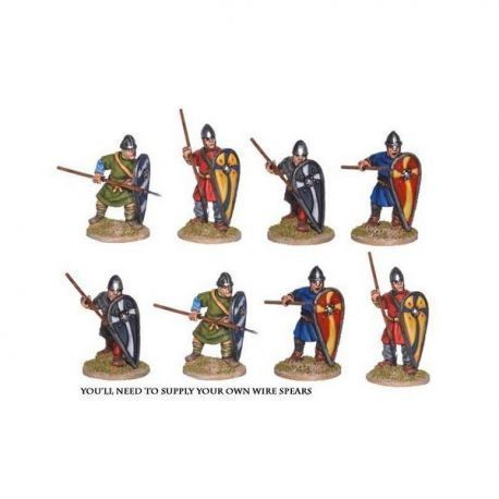 Unarmoured Norman Spearmen (8 figs)