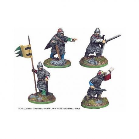 Norman Infantry Command (4 figs)