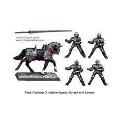 Mounted Men-at-Arms Lances Upright (3)