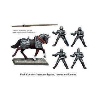 Mounted Men-at-Arms Lances Upright (3)