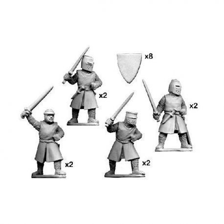 Dismounted Knights with Swords