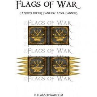 Dwarf Fantasy Anvil Banners